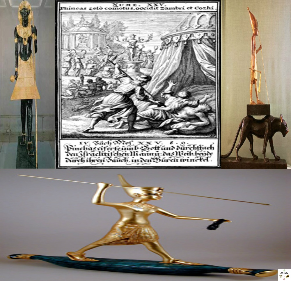 [Ancient] Egypt & Ethiopia; Mirrors of a Hamo-Shemitic culture: Phineas' Zealousy for God; Young & Valiant staff carrying King Tut(Tutankhamun)