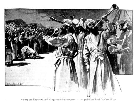 shoftim - parsha [levites blow the trumpets]