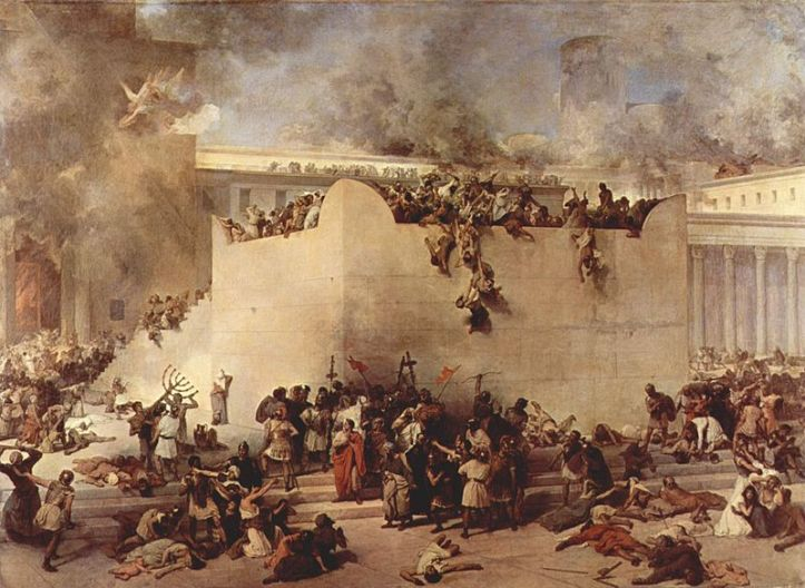 Destruction of the Temple of Jerusalem _ painting by James J. Tissot