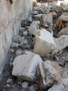 Stones excavated from the Western Wall at Jerusalem _ ref. Matt 24: 2; Mark 13: 2;  Luke 21: 6