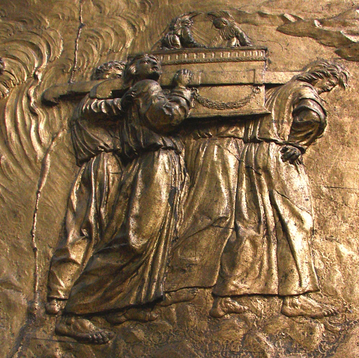 """""""Ark of the Covenant"""" _ relief at the Cathedral of Auch; in France"""