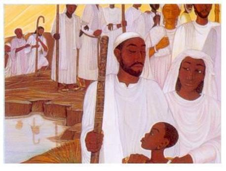 """Painting shows a relation to Israel's Nitz'abim/QomachKH'wal (""""ones standing"""", """"standing ones"""", """"ones who will stand"""" ; by translation) _ artist of piece Unknown"""