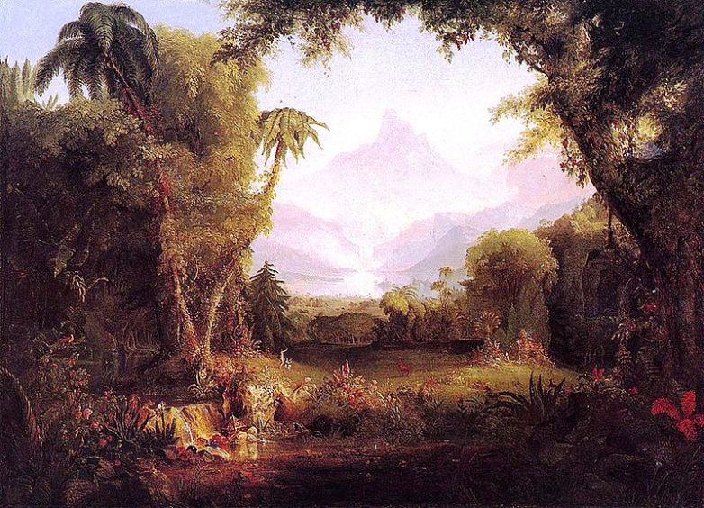 """Cole_Thomas_painting """"The Garden of Eden""""-1828ca"""
