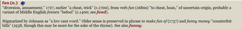fun - etymology