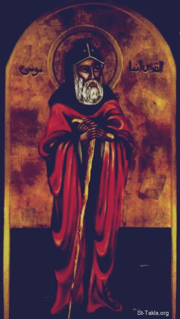 Moses _ an Orthodox Christian (Coptic) painting [St.Takla.org]