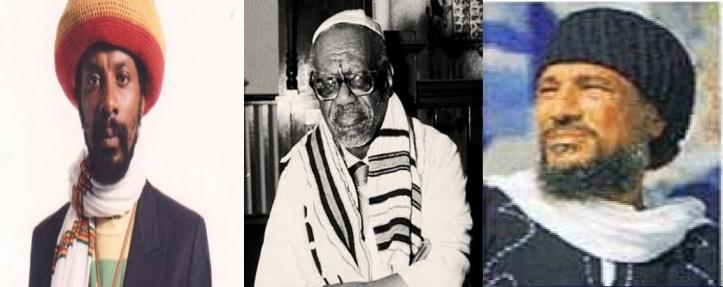 - from (L) to (R)  Ras Seymour McLean, Rabbi Hailu Moshe Paris, & spiritual leader Acki Ben-Ammi ben-Ysrael