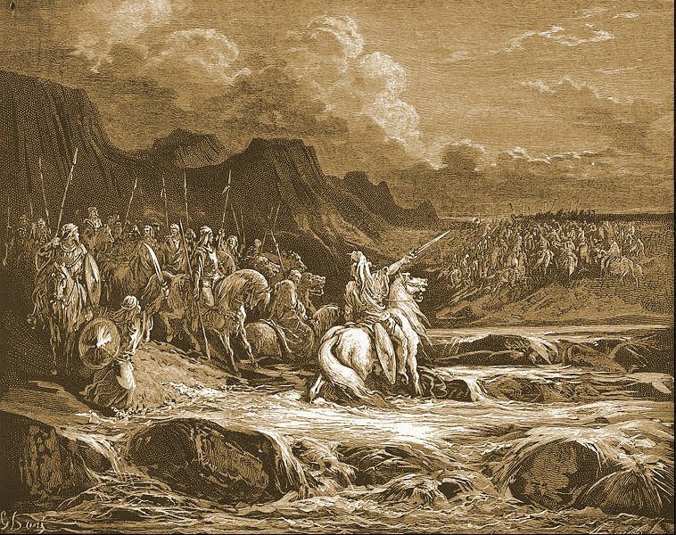 Judah Maccabee pursues Timotheus (Gustave Doré, 1868)