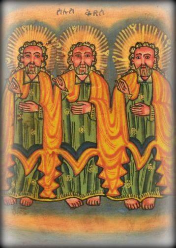 trinity - ethiopian painting