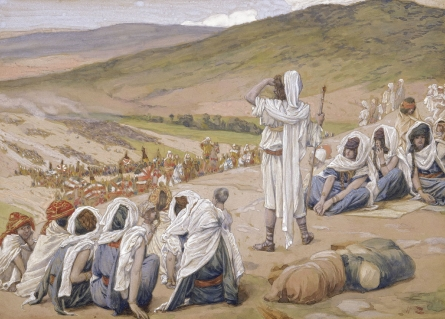 Jacob sees Esau afar off _ by James J. Tissot