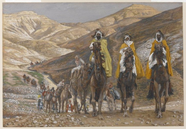 James Tissot's painting – The Magi Journeying (Les rois mages en voyage) – Brooklyn Museum