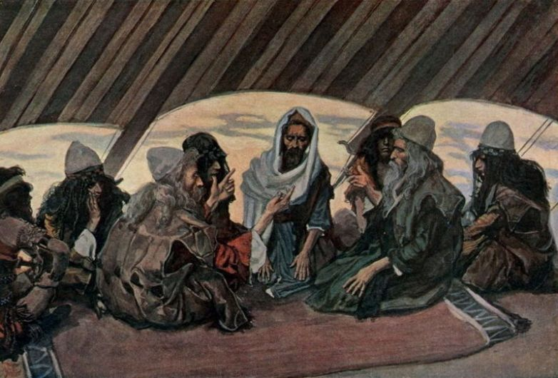 Jethro  _ painting by James Tissot