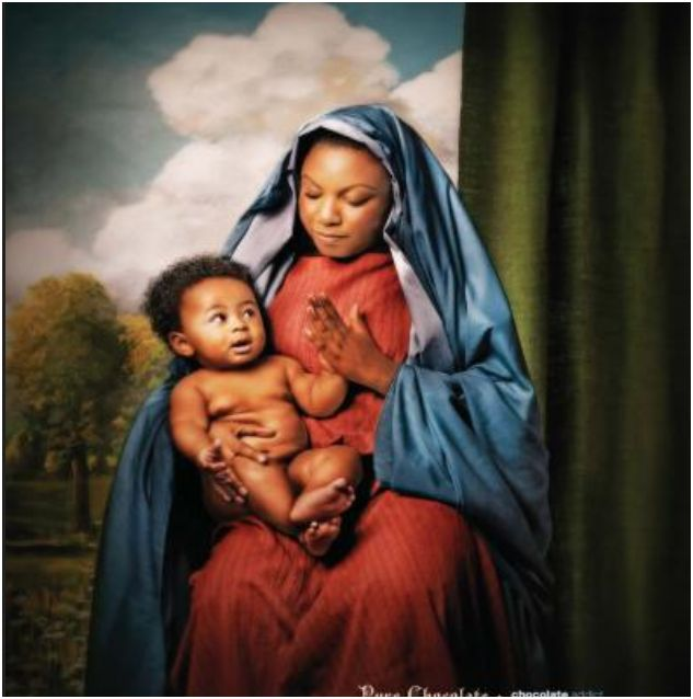 black madonna and child (real time rendition of Maryam and Christ)