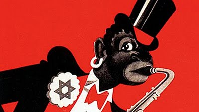 German-Nazi anti jazz, propaganda poster