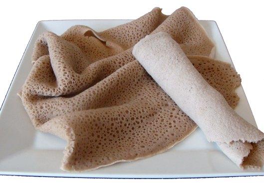- Ethiopian baked bread (Injera)