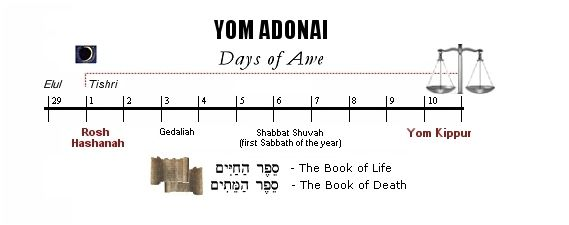 yamim noraiim - 10 days of awe - (aseret yamei teshuba)