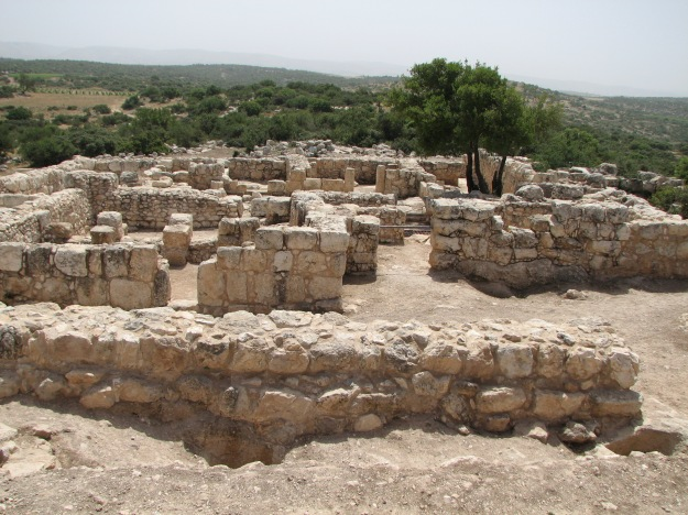 Remains of Hurvat Itri village destroyed during the Bar Kokhba revolt